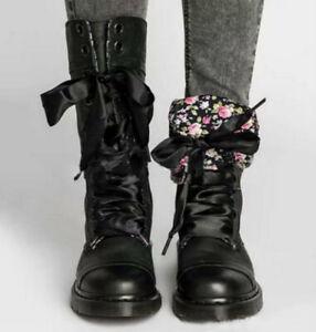 Neu Damen Stiefel Reitstiefel Stiefelettens Schnür Boots Biker Damen Schuhe