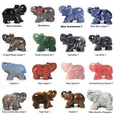 2 Inch  Elephant Figurine Wholesale Natural Stones Healing Crystals Statue Decor