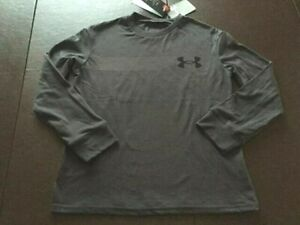 NWT Under Armour Boys Youth LS T-Shirt Charcoal Gray Size YSM Small  1364026 $25
