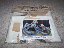 "Daisy Kingdom STENCILED ROCKING HORSE Fabric Panel Kit Baby Nursery Decor 14"""