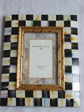 Mackenzie Childs 4 X 6 PICTURE/PHOTO Wood Frame COURTLY CHECK NEW $98 mc14