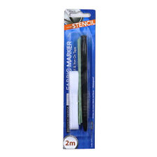 Fabric Marker with 2 Meter Iron on Tape and A - Z Lettering Stencils, by Premier