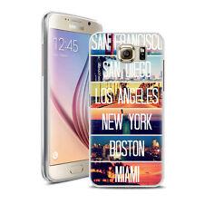Coque Housse Samsung S 7 + Verre Trempé 9 H - Motif Midley Amerique
