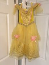 Disney Store Beauty & Beast Belle Dress Up Costume Size XS 4 Pink Roses