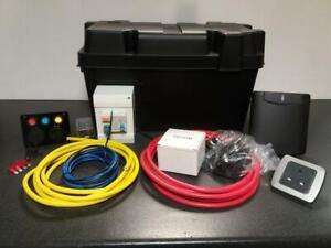 Camper Conversion Electric Kit Split Charge Socket Wiring Hook Up Battery Box