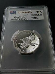 2014-P $8 Silver Australia Wedge Tailed Eagle High Relief 5 oz PCGS PR69DCAM