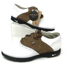 Nike Zoom Air Golf Shoes Leather Saddle Brown White Women's Size US 7  NO BOX