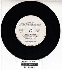"THE B-52'S  Private Idaho 7"" 45 rpm vinyl record + juke box title strip"
