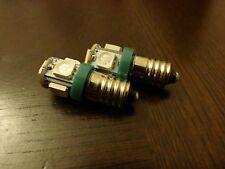 E10 5050 5 SMD LED Green Bulb MES Screw Torch Headlamps/Light x2