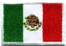 Flag of Mexico Mexican bandera embroidered applique iron-on patch Small S-347