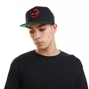 Official Marvel Mens - Deadpool Logo Embroidery - Snapback Cap - Black