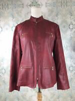 Chico's Red Vegan Leather Motto Jacket 2