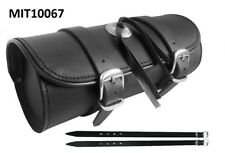 Motorrad Werkzeugrolle Tool Bag Gepäckrolle Chopper Leder Universal