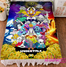 Game Anime Undertale Sans  Soft Bed Sheets Warmth FLANNEL Blanket Coverlets