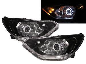 Sail MK3 15-present 4D CCFL Projector Headlight Black for CHEVROLET CHEVY RHD