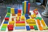 Lego Duplo Lot ~ Lego Duplo Building Blocks various colors & shapes 116 pieces