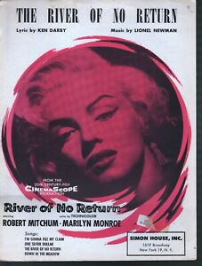 River of No Return 1954 Marilyn Monroe River of No Return Sheet Music