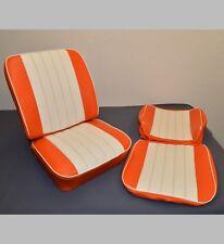VW Type 2 T2 Bay Window Van Campervan Tailored Waterproof Seat Covers Orange