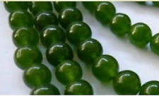 AAA+++ 6mm 100% natural emerald gemstone beads 15""