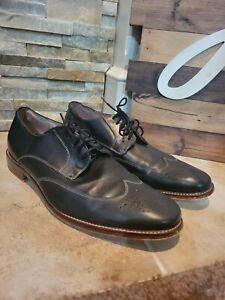 Banana Republic Black Leather Oxford Wingtip Men's Size 12M Dress Shoes