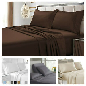 Luxury Flat Bed Sheets Egyptian Comfort 1900 Series Size Twin, Full, King, Queen
