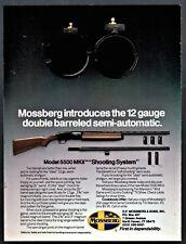 1990 MOSSBERG Model 5500 MKII Double-barrel Shotgun AD Old Gun Advertising