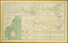 AUTHENTIC CIVIL WAR MAP ~ (SEE DESCRIPTION BELOW)