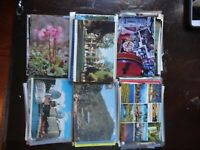 LOT OF 50 + UNUSED POSTCARDS TO MAIL TO FAMILY. ALL CHROME , 4 X 6 CARDS ON SALE