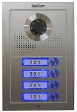 Video Intercom Lobby Unit 4-Button Door Camera for 4-wire video doorphones