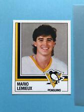 MARIO LEMIEUX PANINI 1987-88 HOCKEY STICKER  #146 PITTSBURGH PENGUINS