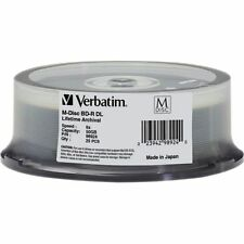 M DISC VERBATIM BD-R DL 50GB 6X Branded Logo 25 pk Spindle 98924