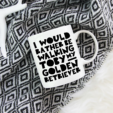 More details for golden retriever gifts: personalised golden retriever dog mug - funny owner gift