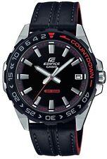 Casio Edifice Countdown Black Leather Quartz Mens Watch EFV-120BL-1AVUEF RRP £89