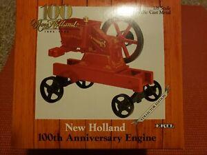 ERTL, New Holland 100th Anniversary Engine, Die-Cast Metal, #321DA 1/8 Scale NIB