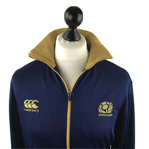 Canterbury Of New Zealand Scotland Mens Jacket Large Rugby Zip Up Sports Blue