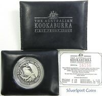 1990 KOOKABURRA PROOF SILVER Coin in Wallet