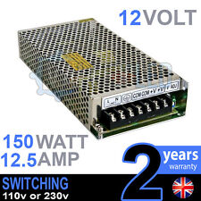 12V DC 150w 12.5A 230v 110v SWITCHING POWER SUPPLY PER STRISCE LED DRIVER CCTV