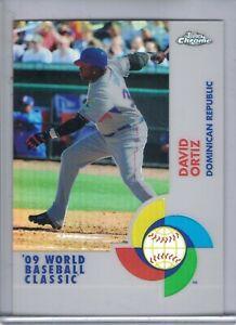 DAVID ORTIZ 2009 Topps Chrome World Baseball Classic Refractor #104/500  G5772