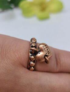 Miss Sixty Copper Dangle Heart Charm Ring Size 7