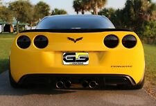 Smoked Tail Light Covers Blackout Lights For 05-13 C6 Corvette *Best Quality*