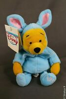 """Disney Winnie The Pooh in Easter Bunny Outfit 8"""" Mini Bean Bag Plush 1999"""