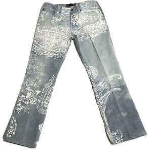 JUST CAVALLI~ BUTTON FLY  DESIGNER  JEANS ~ SIZE 8-10 US ITALY