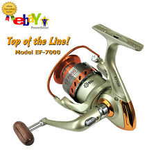 PREMIUM EF-7000 Spinning Reel 12 +1 Ball Bearings Freshwater Saltwater Fishing