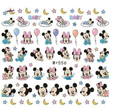 Nail Art Stickers Water Decals Transfers Baby Mickey & Minnie Mouse (M+556)
