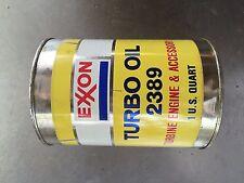 Vintage 2389 EXXON Turbo Oil Quart  Airplane Turbine Engine