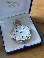 Stunning Vintage Omega Pocket Watch Rolled Gold With Box c. 1916 .99p No Reserve