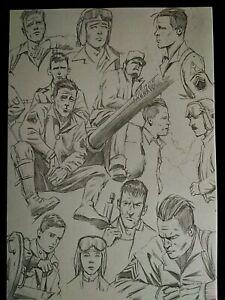 ORIGINAL Pencil Sketches Of FURY Movie