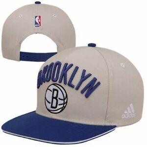 Adidas Brooklyn Nets Flat Brim Snapback Hat