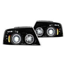 Recon Black/Smoke Halo Projector Headlights with LED DRL for 04-08 Ford F-150