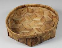alter Holz Korb - Furnier , Spanholz o.ä. - ØxH = ca. 31x9 cm. - ca. 240 Gr. 328